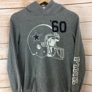 VS Pink Dallas Cowboys Hoodie Gray Small
